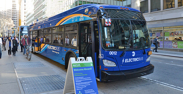 New York City's New Flyer XE40 all-electric bus. Photo credit: Marc A. Hermann/MTA New York City Transit