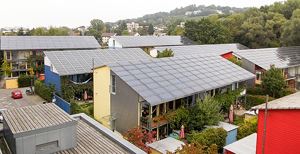 Energy efficiency homes in Freiburg-Vauban, Germany. Photo credit: Arnold Plesse/Wikipedia