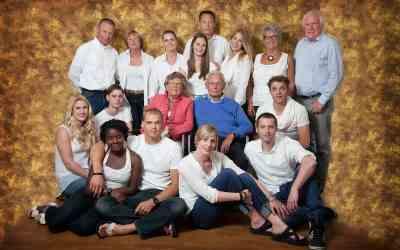 Grote familie fotoshoot bij jullie thuis