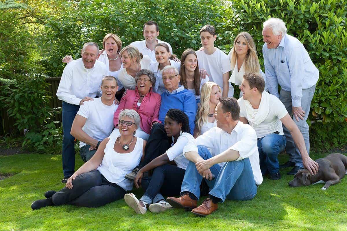 Grote familie fotoshoot bij jullie thuis  familie