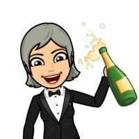 bitmoji-plaatje met champagne