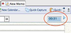 IBM Lotus Notes new memo 2 minute timer