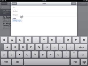 iPad Trefwoorden (shortcuts)