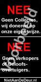 Niet-Aan-De-Deur sticker: nee/nee