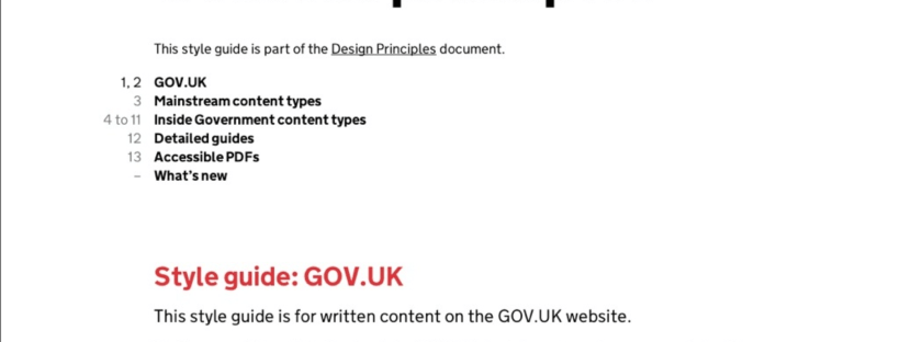 Government Digital Services - Content Principles