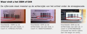 ISBN- of EAN-nummer vinden