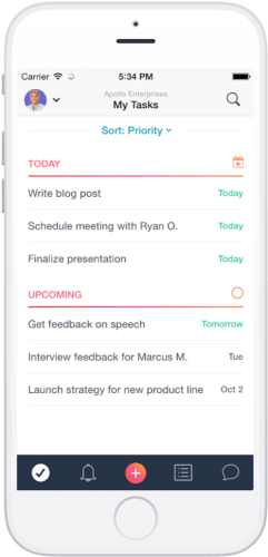 Asana on iPhone