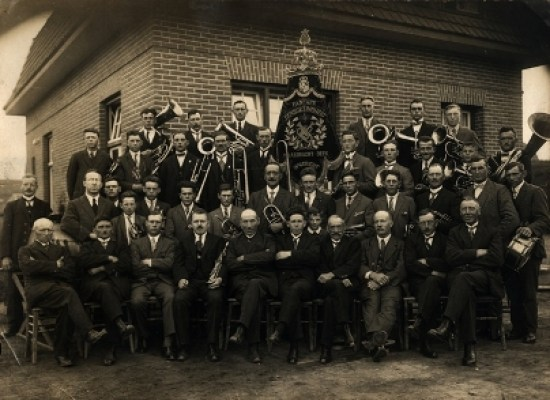 De fanfare in 1928