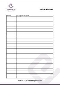 motivatielogboek lijst gevonden schatten -25
