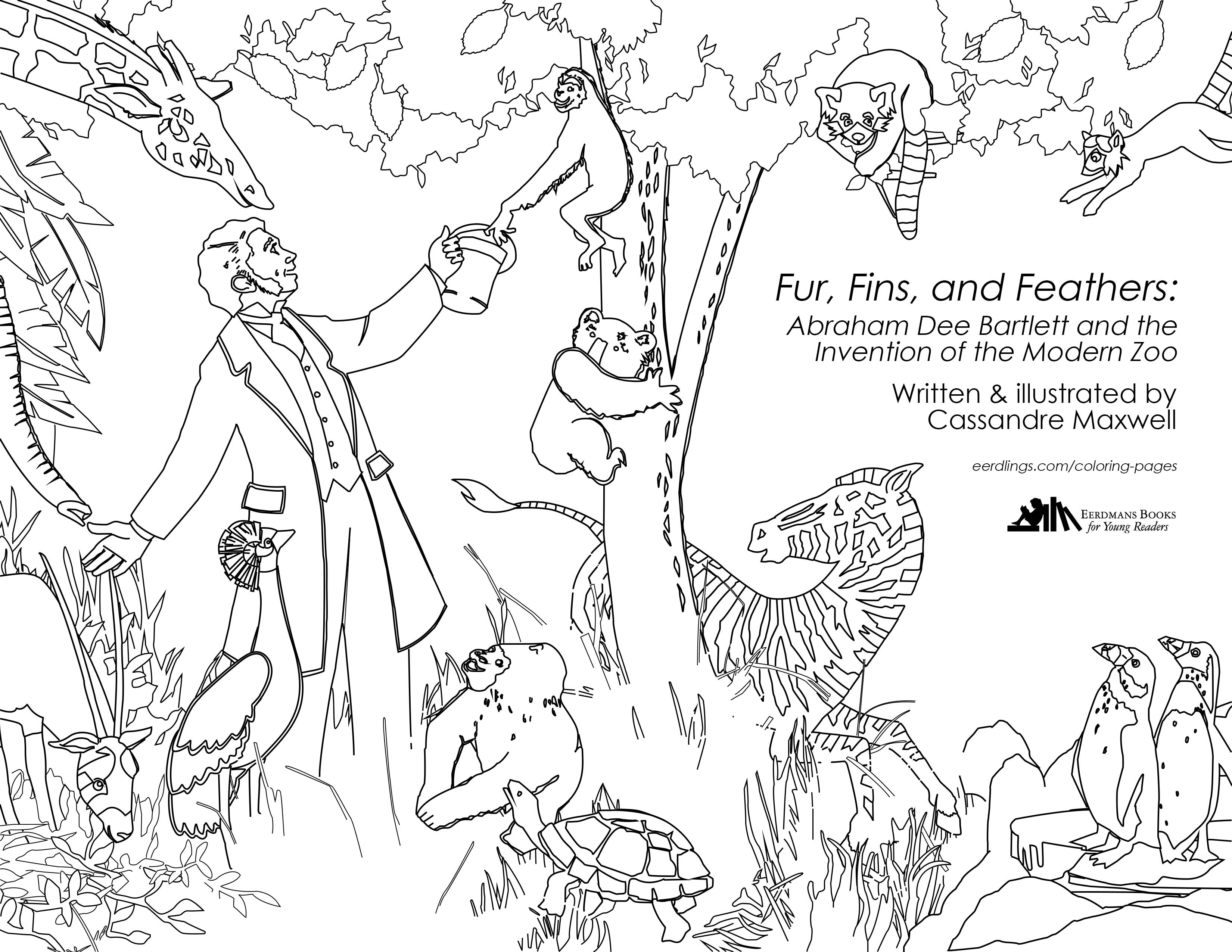 New Coloring Page For Fur Fins And Feathers