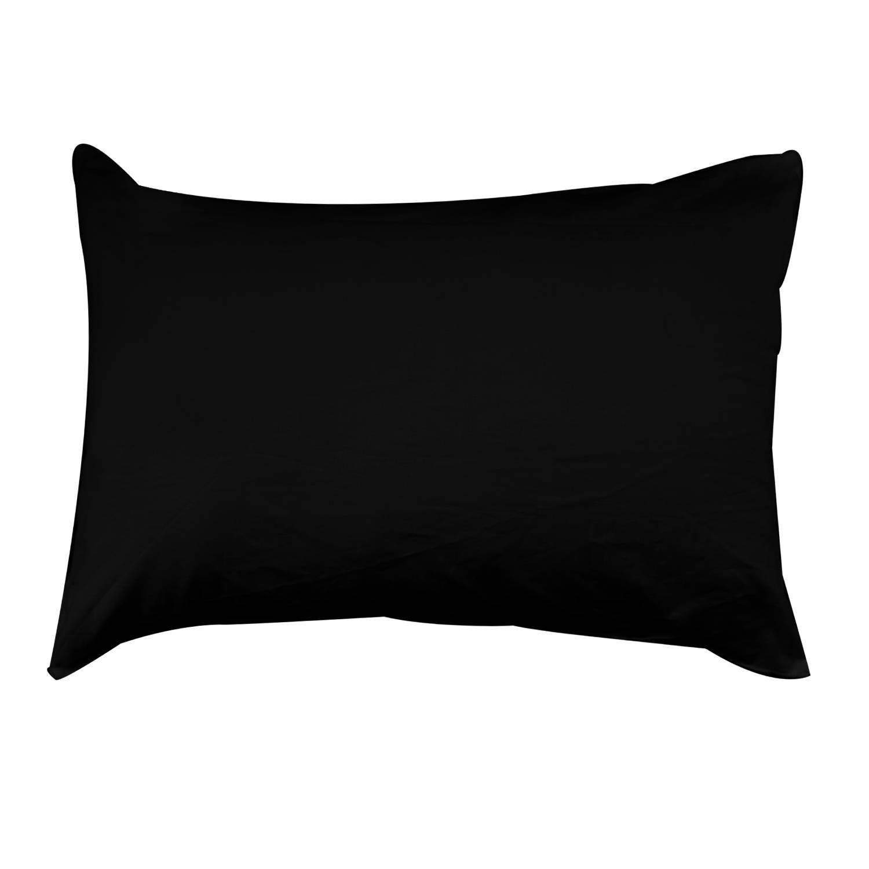 black cotton chair covers felt pads for legs solid pillow cover home sofa decorative 2pcs