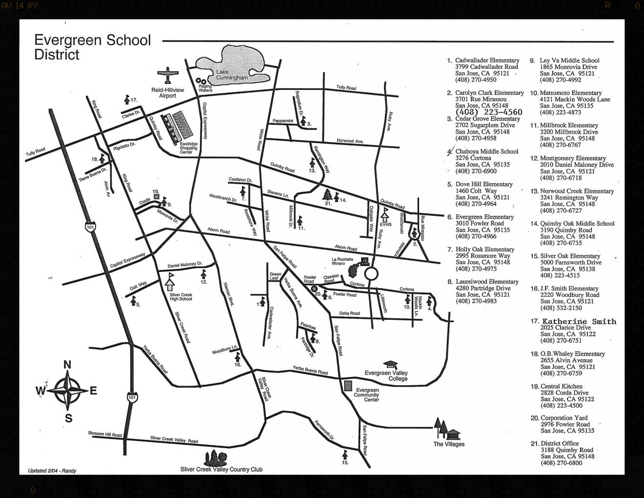 Evergreen School District: View a Map of ESD Schools