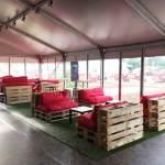 Messebau / Freilandausstellung - Palettenmöbel made by eest!