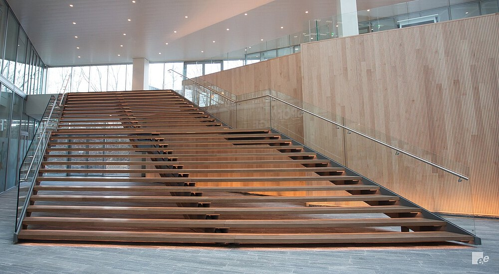 Open Stairs And Open Staircase Designs By Eestairs   Glass Stair Treads Cost   Floating Staircase   Handrail   Floating   Steel   Iron Stair