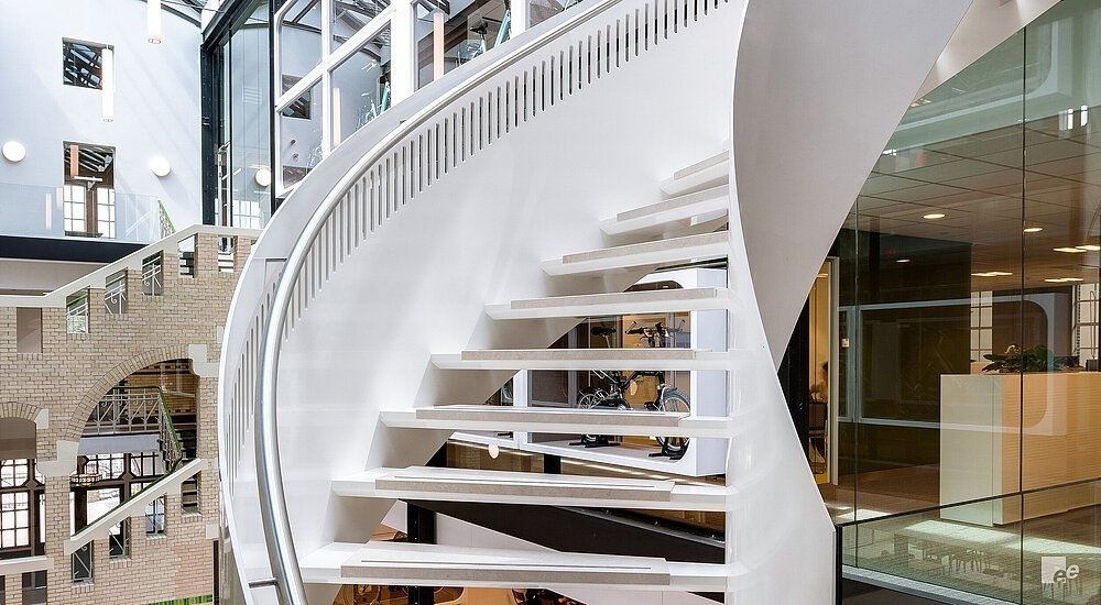 Curved Staircase Helical Stairs By Eestairs | Flexible Handrail For Spiral Staircase | Staircase Ideas | Stair Kit | Loft Stairs | Stair Parts | Modern Staircase