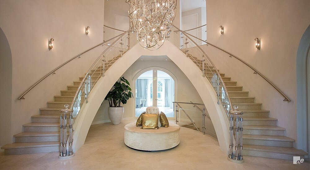 Curved Staircase Helical Stairs By Eestairs   Steel Round Staircase Design   Stair Steel Grill   Top Floor Railing   Terraced House   Semi Circular   Circle Stair