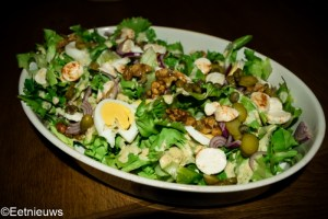 salade met honing-mosterddressing