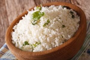 Bloemkool als rijst