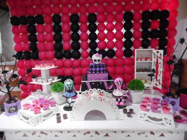Monster High Parabns e Cia Decorao de Festas