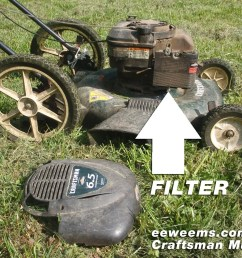 craftsman mower mulcher 22 air filter [ 1400 x 1050 Pixel ]
