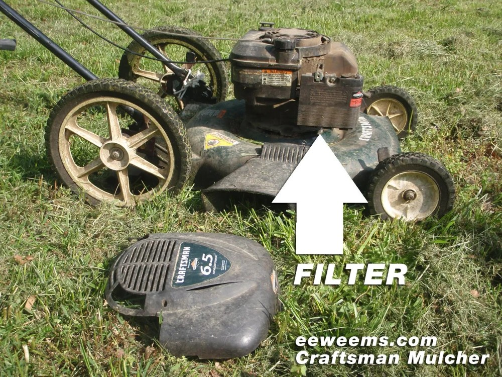medium resolution of craftsman mower mulcher 22 air filter