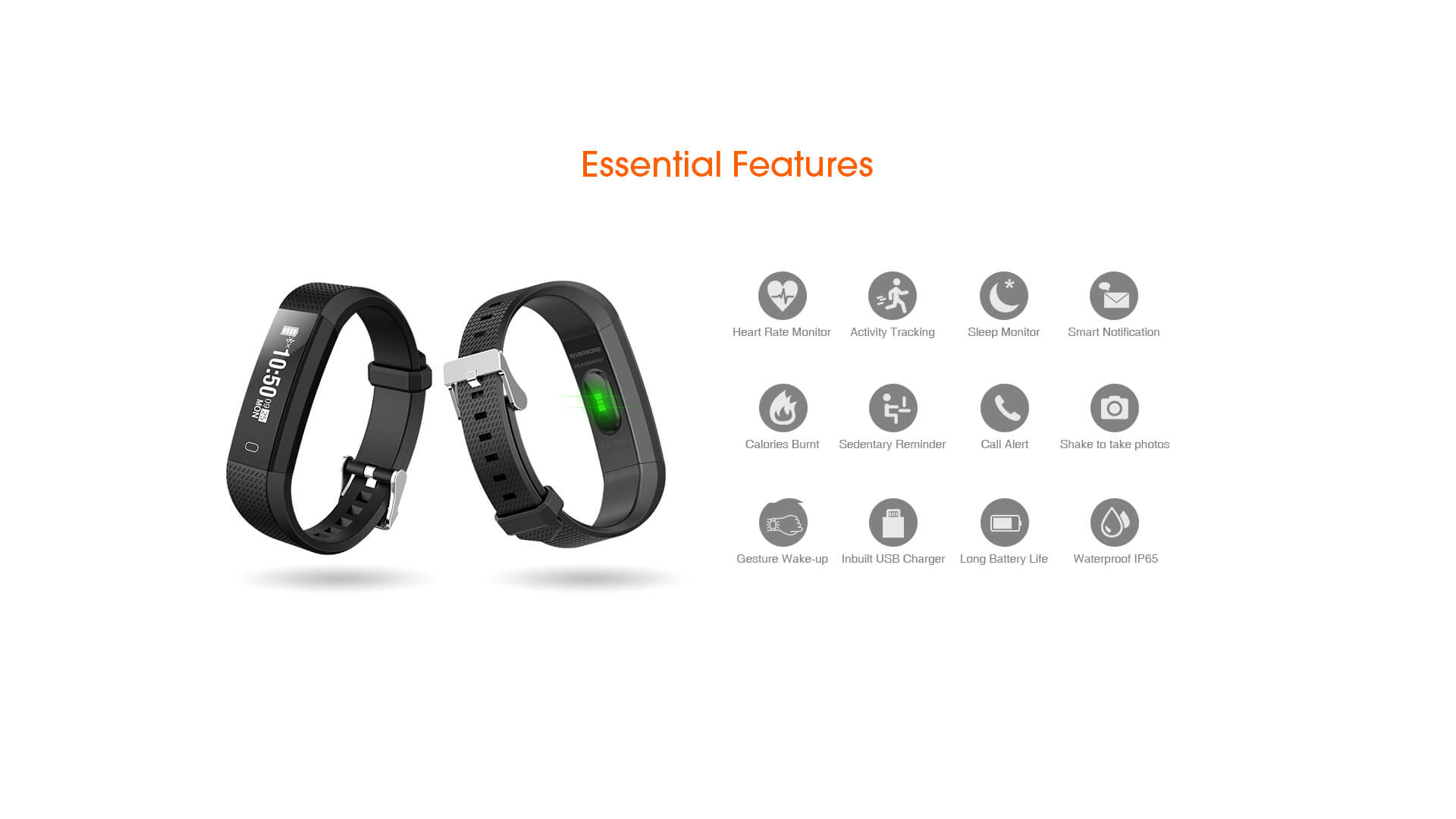 Riversong ACT HR Fitness Tracker with Heart Rate Monitor