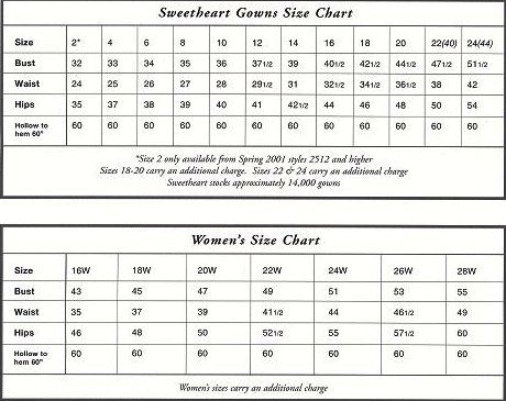 sweetheart size chart thebridalshop