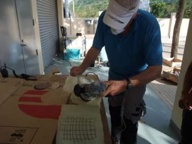 Bangui-EFC-Bert preparing Repair training