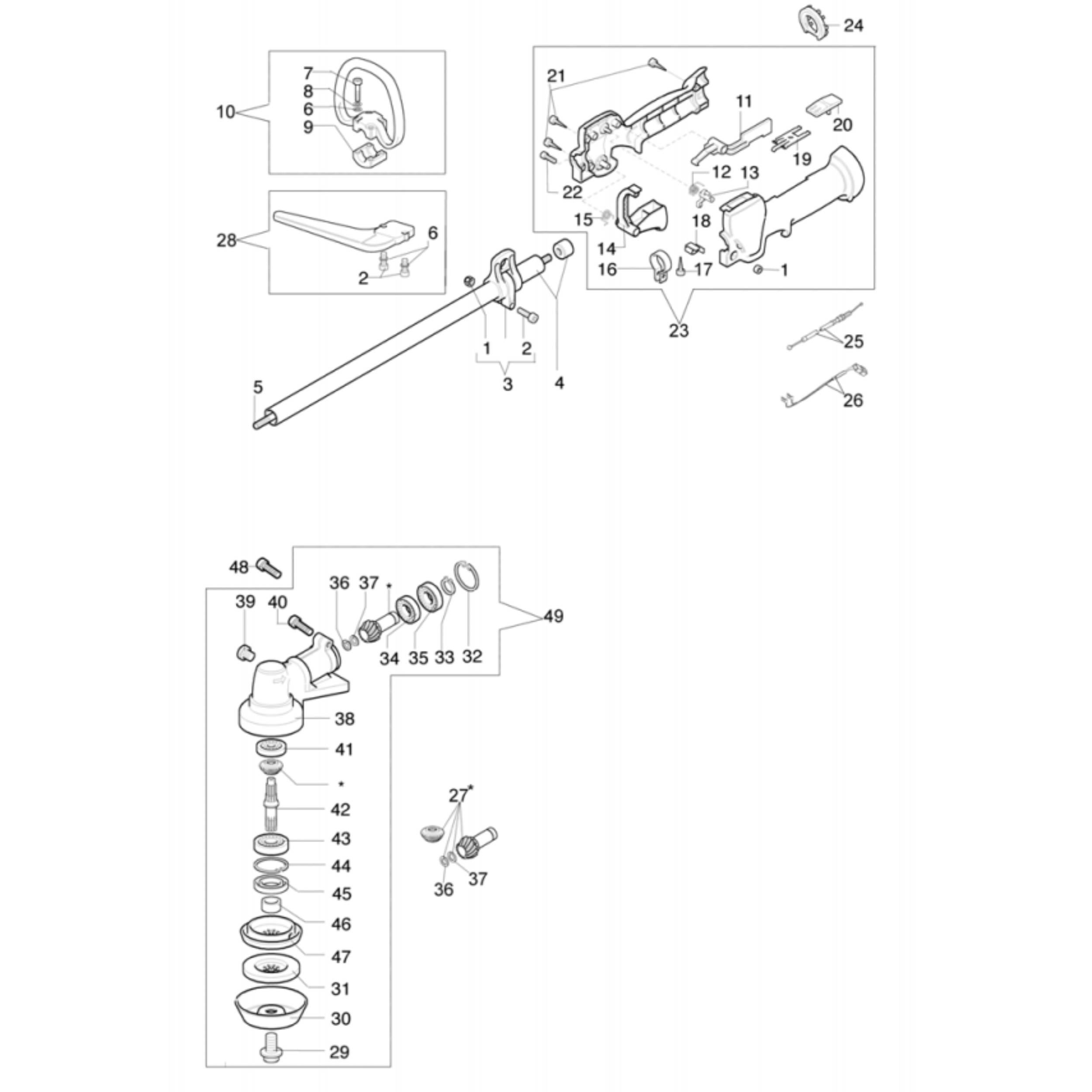 Efco S Trimmer Parts