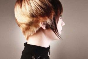 modelo con pelo corto