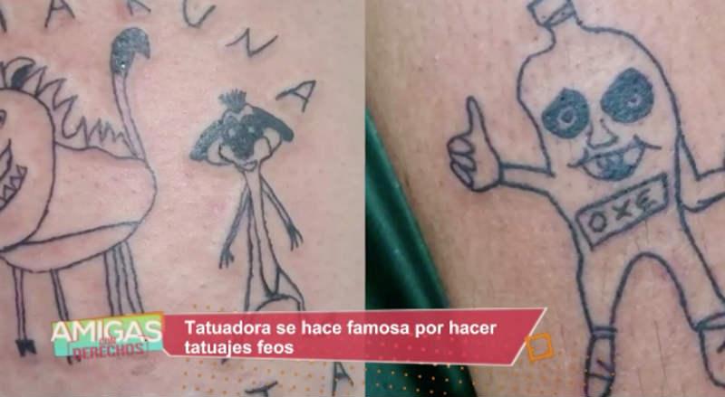 Tatuadora Se Hace Famosa Por Sus Feos Diseños
