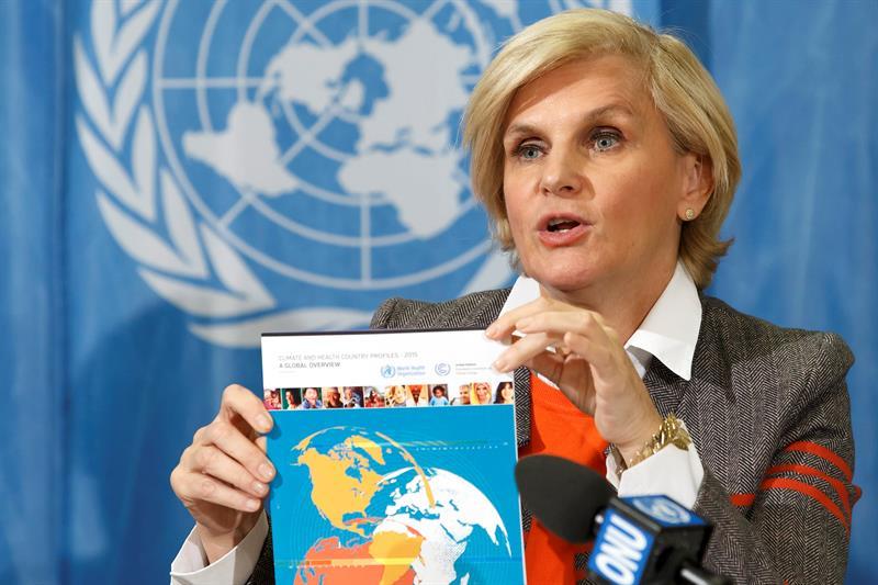La directora de Salud Pública y Medio Ambiente de la OMS, María Neira, informa de la posición de la organización respecto a la COP21