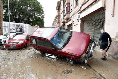 3Graves daños en Tafalla, Olite y Pueyo por la intensas lluvias registradas desde ayer