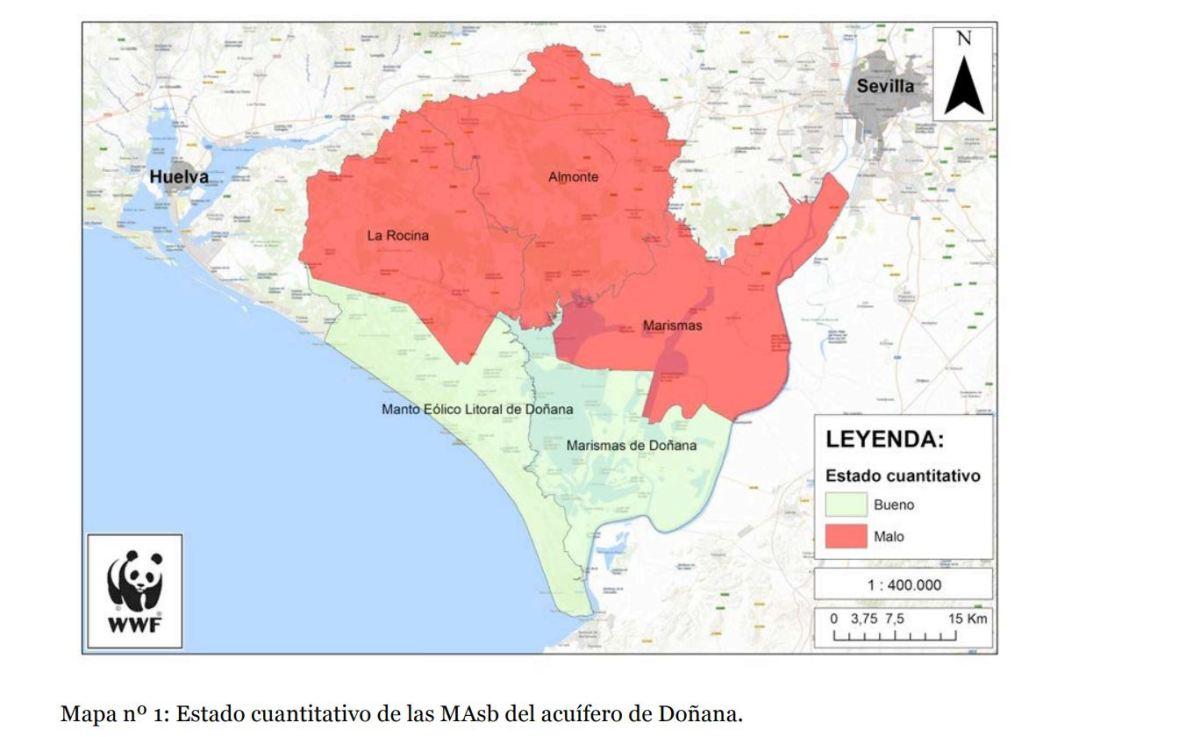 sobreexplotación del acuífero de Doñana