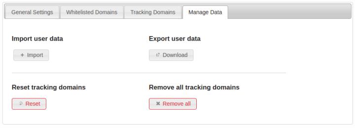 Option Menu Privacy Badger