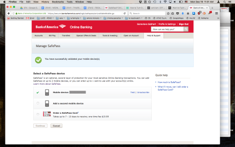 How To Enable Two Factor Authentication On Bank Of America Electronic Frontier Foundation