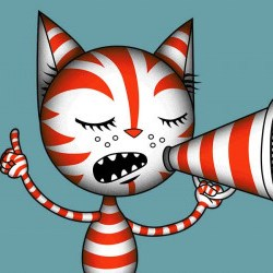 EFF Cat Speaking Freely