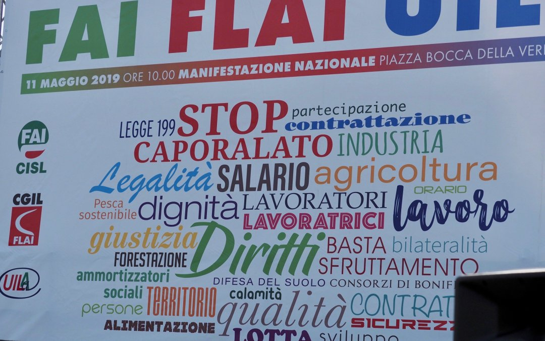 6000 Italian agro-food workers call for improved working conditions