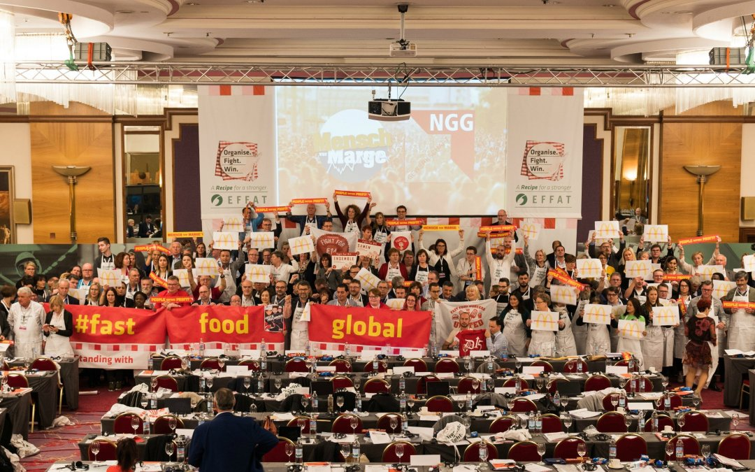 EFFAT Congress stands with fast food workers all over the globe demanding decent pay and working conditions