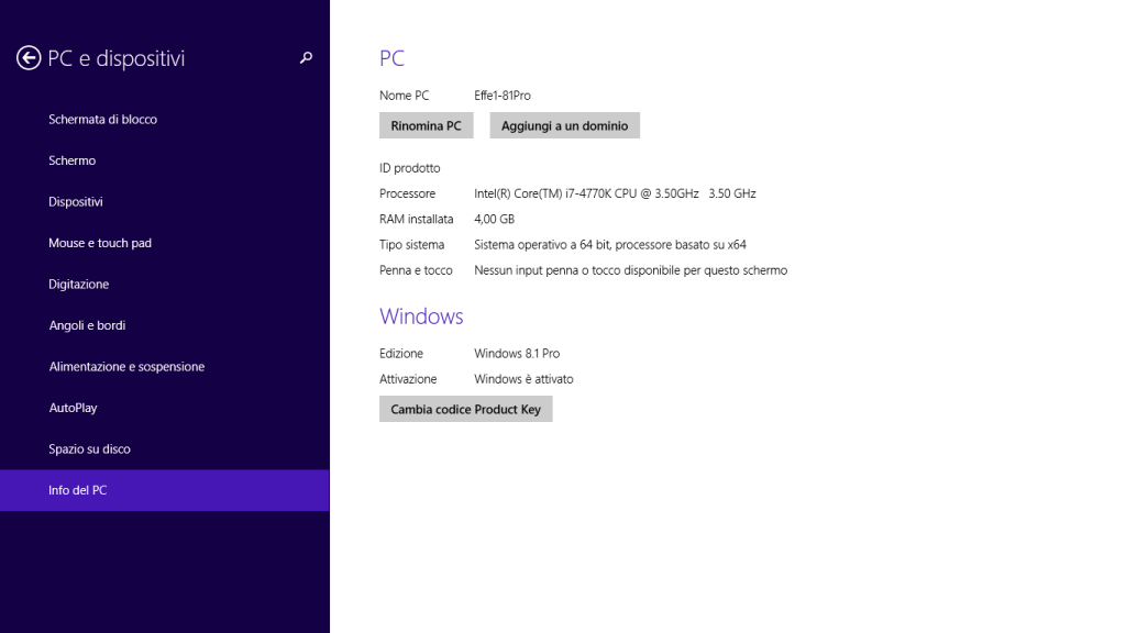 Windows 8.1 - Info del PC