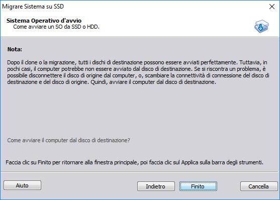 Aomei Partition Assistant - Migrare Sistema su SSD - Nota