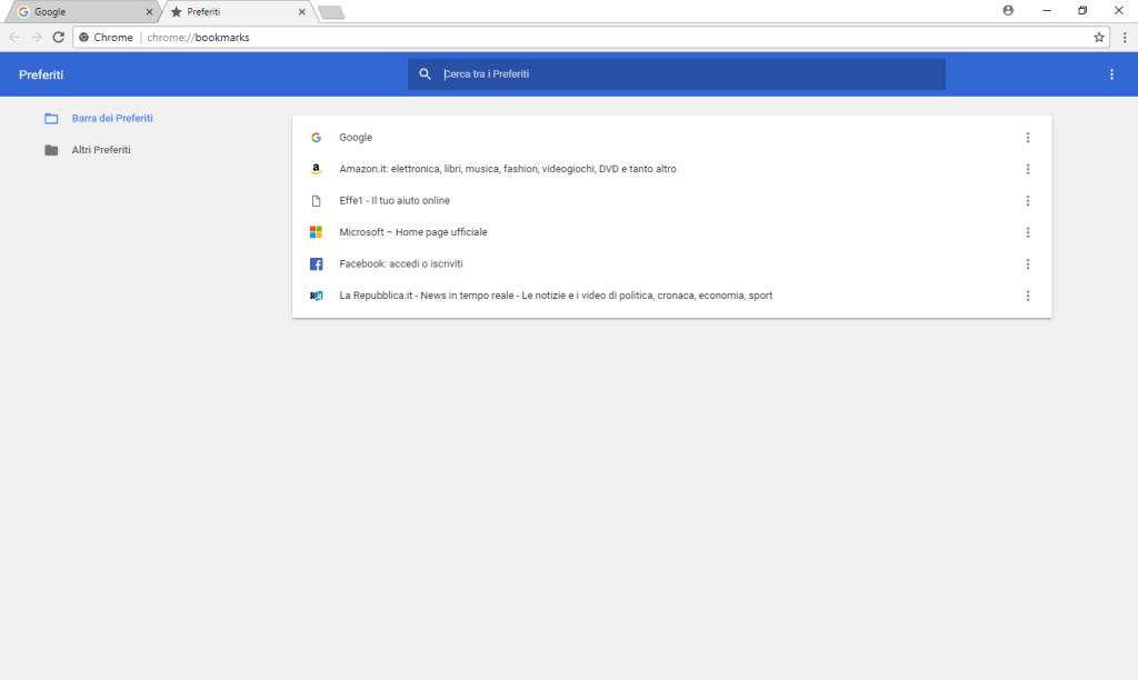 Google Chrome -Gestione prefetiti
