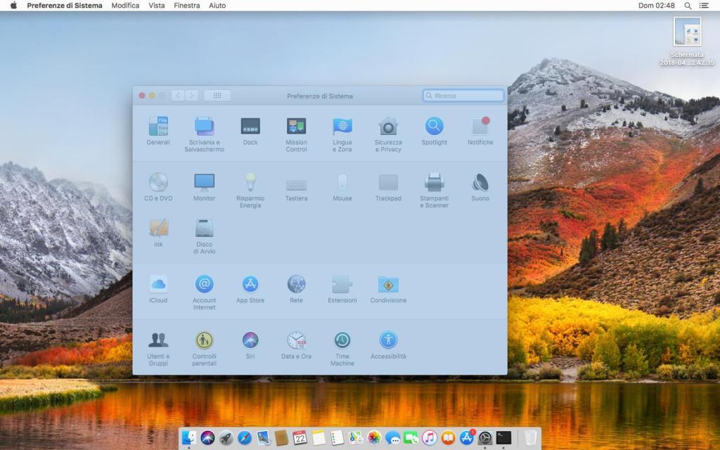 MacOs - Screenshot finestra attiva