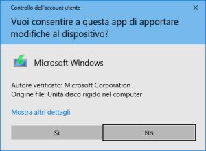 Windows 10 - Media Creation Tool - Conferma Sicurezza