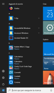 Windows 10 - Menu start