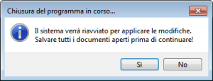 Windows 7 - Vistalizator - Richiesta riavvio