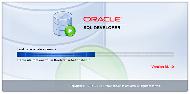 Oracle Sql Developer - Avvio