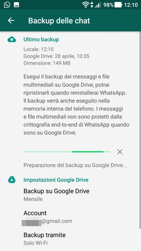 WhatsApp - Backup In Corso 02