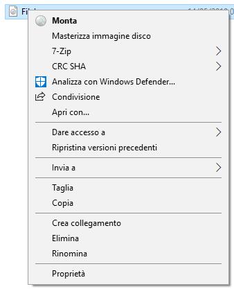 Windows 10 - Monta File ISO
