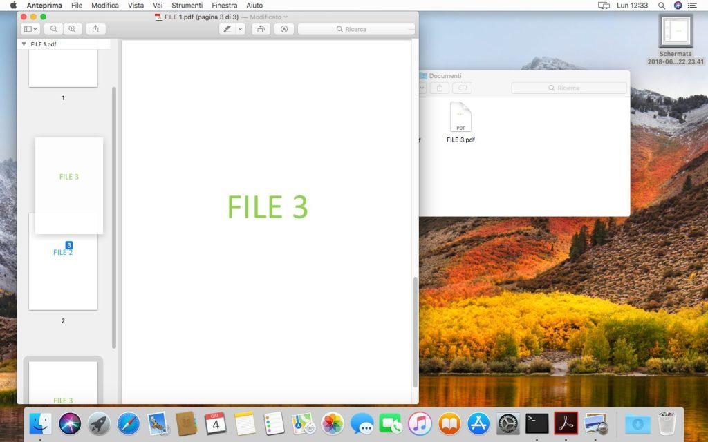 macOS - Apple - Anteprima - Trascinamento File PDF